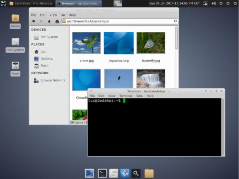 einfaches Debian Jessie mit hüpschem XFCE
